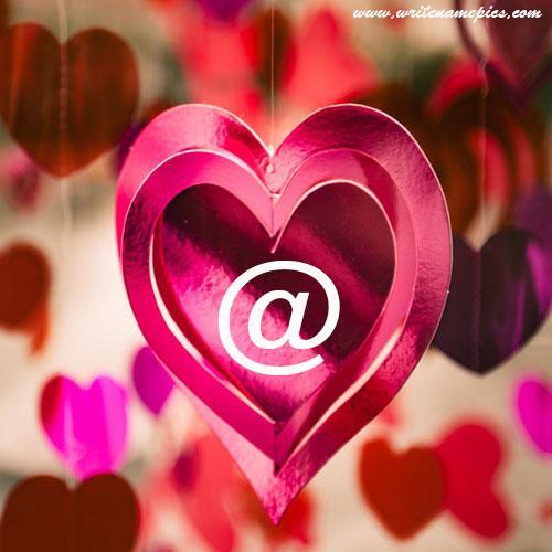 write your name alphabet on heart pics