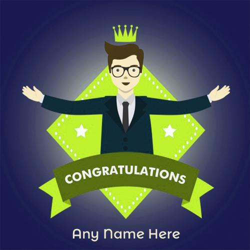 write your name on congratulations greeting cards free