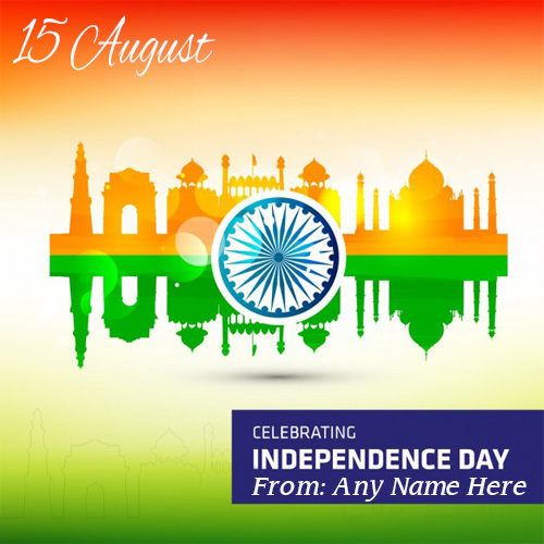Best Wishes Happy independence day indian flag greeting pic