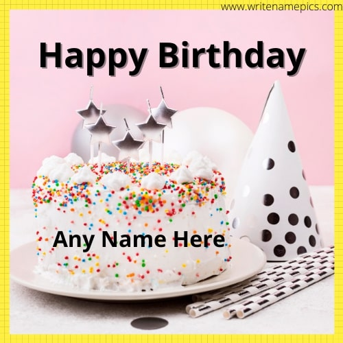 Birthday Wishes with Name on the Cake