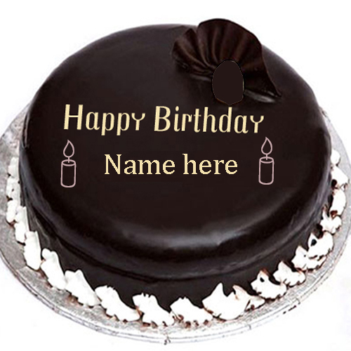 Chocolate Cake Pic With Name : Chocolate Birthday Cake With Name Edit