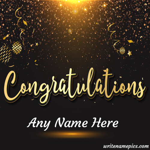 Congratulations Card with Name Image