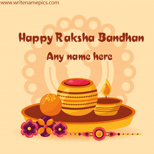 Create online Happy Raksha Bandhan wishes card with Name