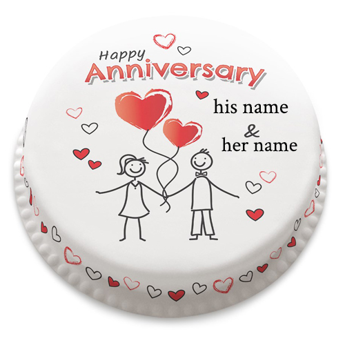 Happy Anniversary wishes Little Heart Cake