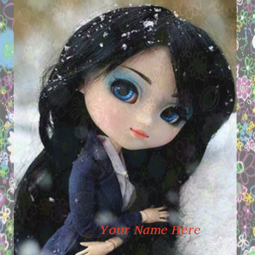 Cute Stylish Barbie Doll Picture With Name