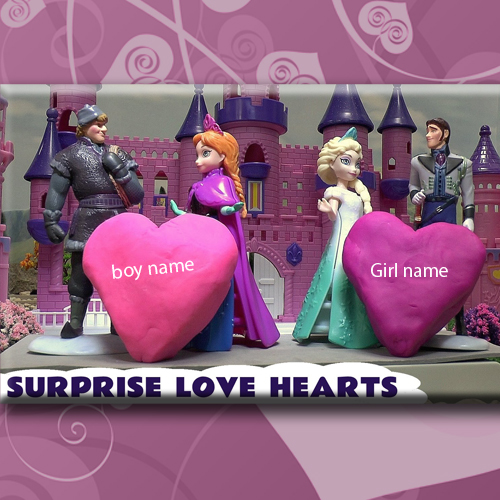 Frozen Disney Heart Picture With Names