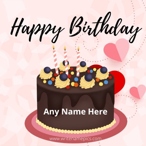 Generate Chocolate Cake Happy Birthday cake image