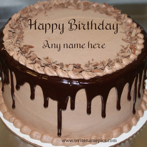 Happy Birthday Cake with Name Image