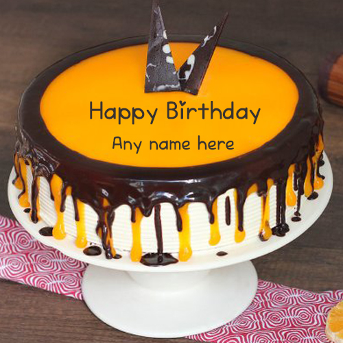 Happy Birthday Cake with name for Friend