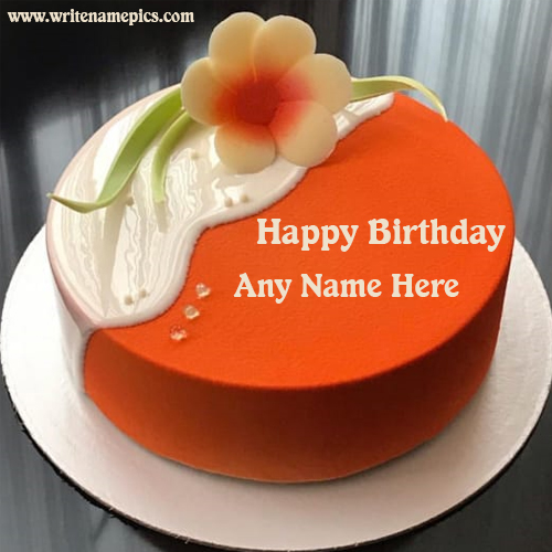 Happy Birthday Flower Cake With Name Edit Option