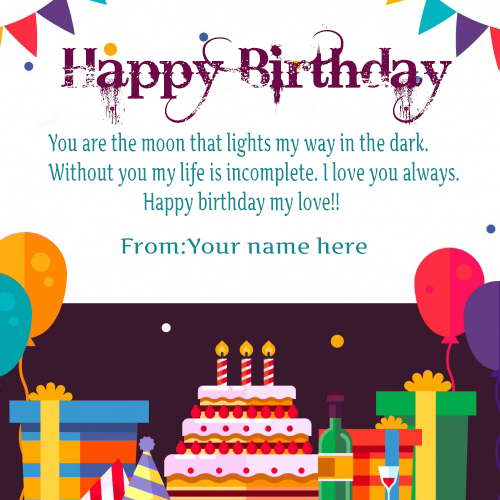 Happy Birthday Wishes Cards For love quotes Images