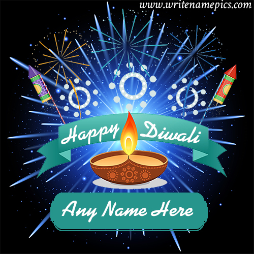 Happy Diwali 2020 Wishes Greetings with Name Edit Option
