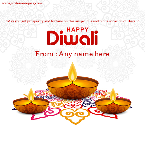Happy Diwali wishes card 2021 with name edit