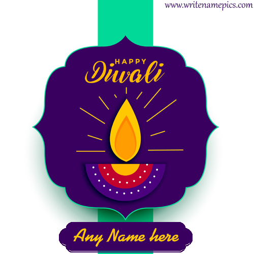 Happy Diwali wishes of 2020 card with name edit