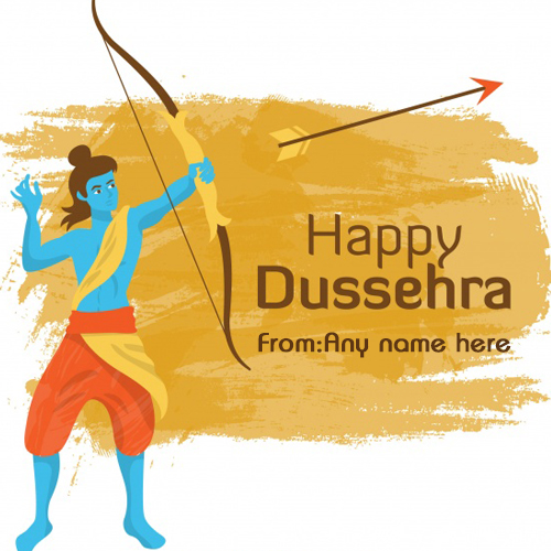 Happy Dussehra wishes load ram images with name pic