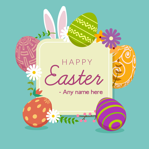 Happy Easter 2019 Images Card With Name Wishes