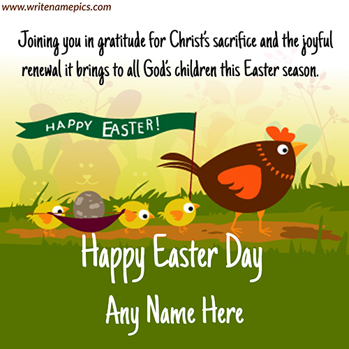 Happy Easter 2021 Greetings Card with Name