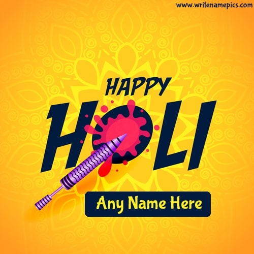 Happy Holi 2021 Greeting Card With name edit