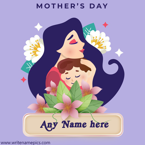 Happy Mothers Day 2020 greeting card with Name Image