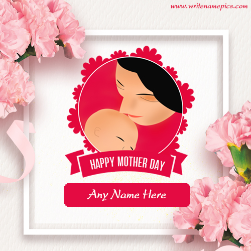Happy Mothers Day card with Name Image