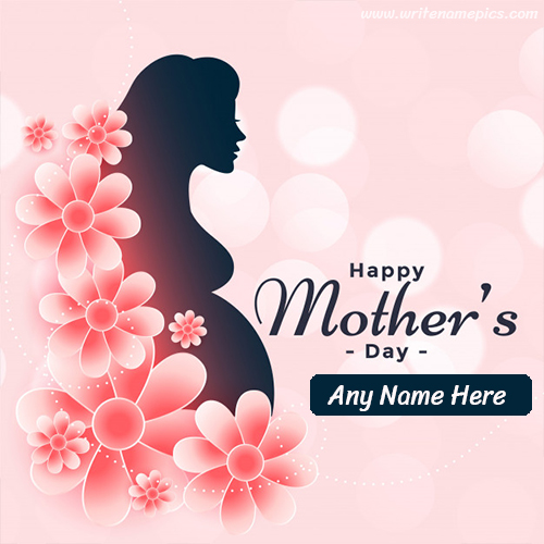 Happy Mothers Day card with Name