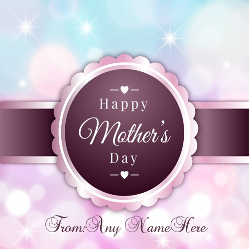 Happy Mothers day wishes greeting card with name for free