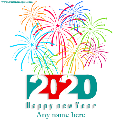 happy new year wishes greeting cards images with name edit