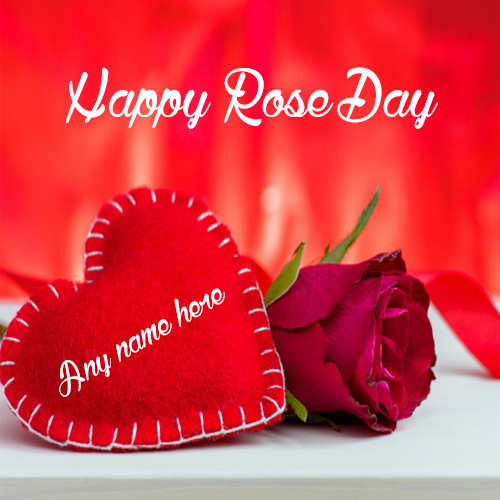 Happy Rose Day Greeting Card With Name Pic Edit