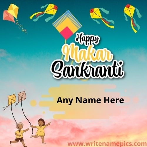 Happy Uttarayan Festival Wishes With Name Edit