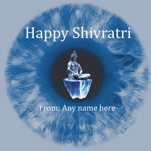 Happy shivratri 2019 wishes card with name pic