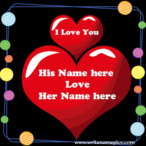 I Love You Card with Couple Name Edit