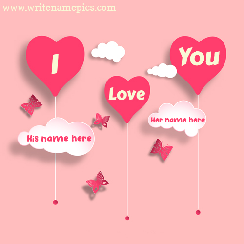 I Love You card with Couple Name