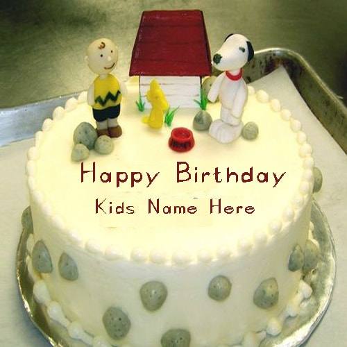 Kids Happy Birthday Cakes Images With Name