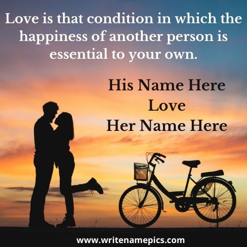 Love Quotes Card with Couple Name Pic Free Edit