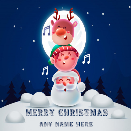 Make Happy Christmas day Greeting Card With Your Name
