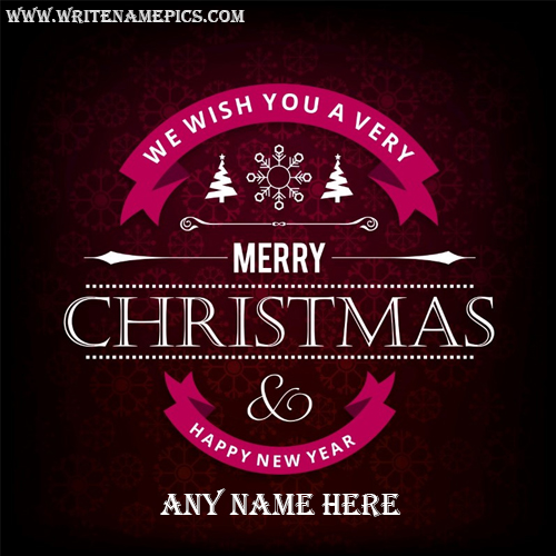 Merry Christmas and Happy New Year greetings card Pic