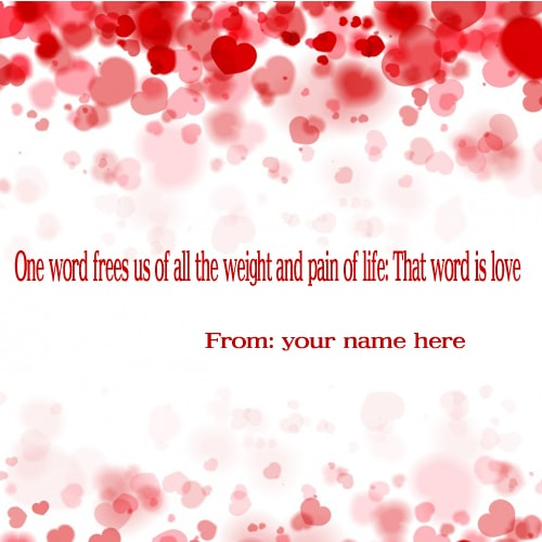 Online Create Free love quotes pic with your name