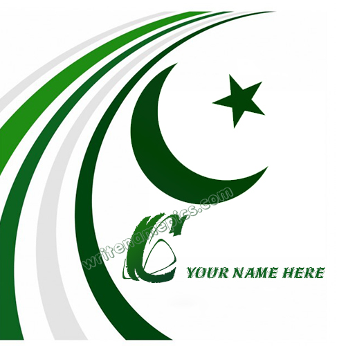 Pakistan Flag with C Alphabet name Whatsapp Profile images