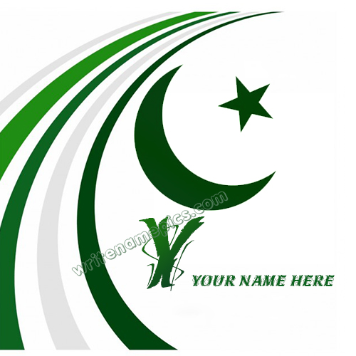 Pakistan Flag with Y Alphabet name Whatsapp Dp