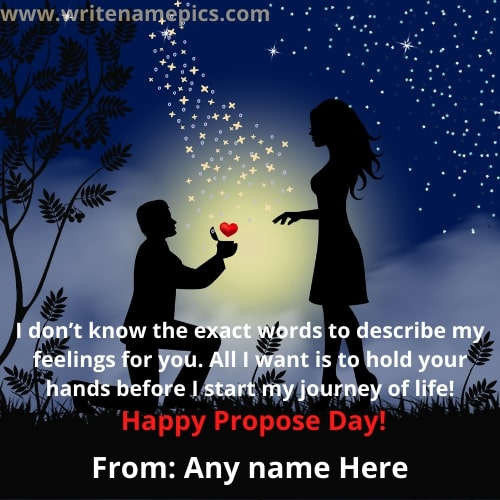 Propose Day Special Card with yours loved one name