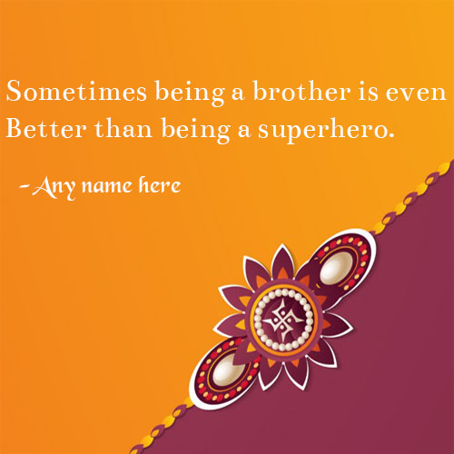 Raksha Bandhan Wishes for brother rakhi quotes images with name