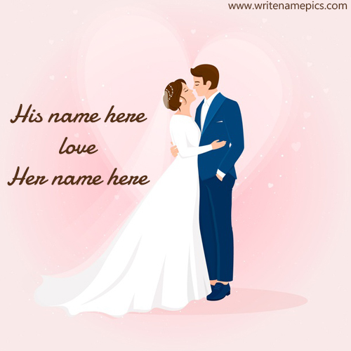 Romantic Couple Image with Couple Name Editor