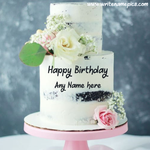 Send online surprise of Happy Birthday Cake with Name