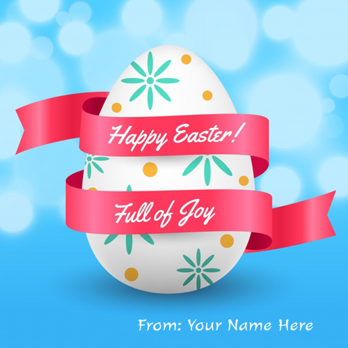 Write Name On Happy Easter Day Greeting Cards pic