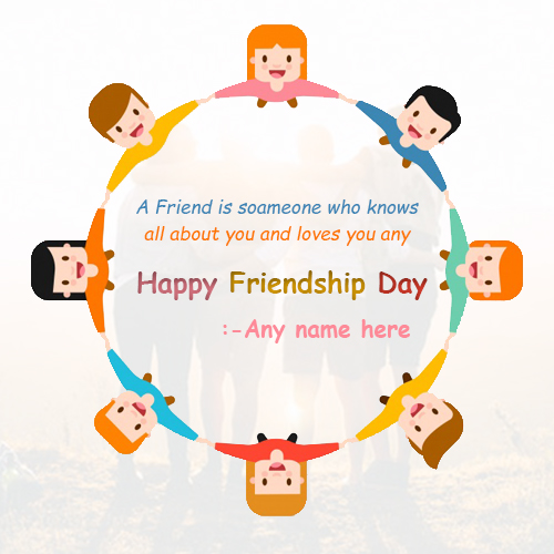Write Name On Happy Friendship Day wishes images for free