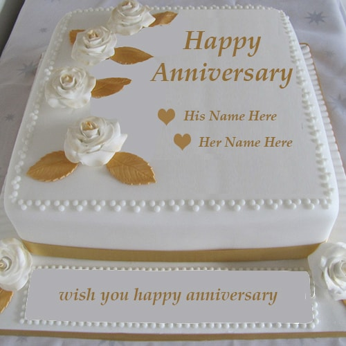 Wedding anniversary cake images with name ideas about th