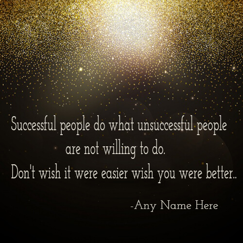 Write name on success quotes images for free download