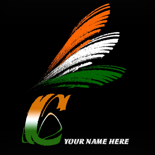 Write your name on C alphabet indian flag images