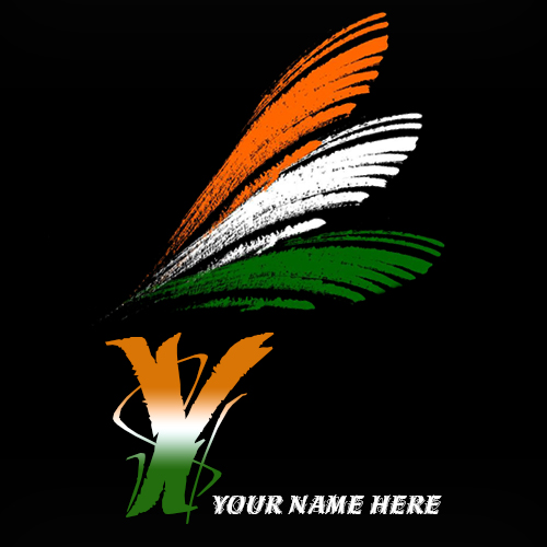 Write your name on Y alphabet indian flag images