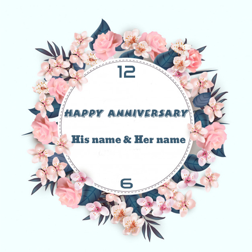 anniversary wishes wall clock gifts cards with couple name